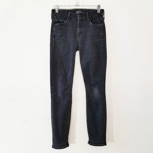 Mother The Looker Crop Not Guilty Black Jeans